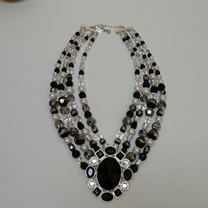 WHBM...Wow!! Statement 4 strand beaded necklace